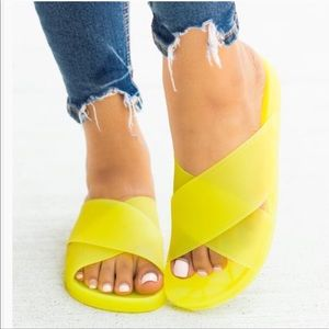 Poolside Yellow Slides